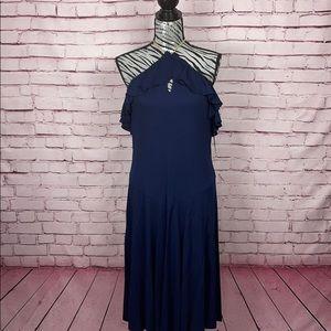 LAUREN Ralph Lauren Chain Halter Dress Sz 14 NWT!!